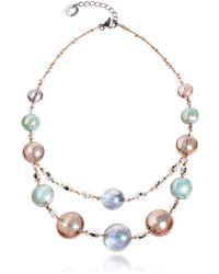 Antica Murrina - Women's Pink Steel Necklace - Lyst