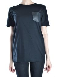 Alexander Wang - Women's Black Cotton T-shirt - Lyst