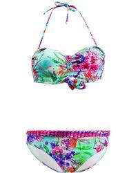 Les P'tites Bombes - 2 Pieces Multicolor Swimsuit Bandeau Push Up B Cup Savana 012 - Lyst