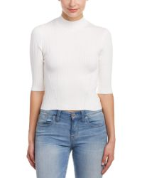 Cotton Candy - Ribbed Turtleneck Top - Lyst
