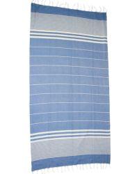 Saachi - Ink Blue Bold Stripe Towel - Lyst