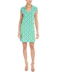 Macbeth Collection - Geo Print Collared V-neck Dress - Compare At $54 - Lyst
