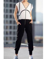 Stella & Jamie - Frost Jumpsuit | Black/white - Lyst