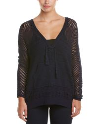 Heartloom - Open-knit Hooded Pullover - Lyst