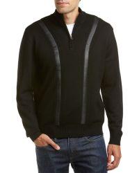 RAFFI - Wool Mock Neck Pullover - Lyst