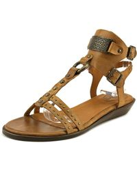 Ariat - Oro Women Open Toe Leather Brown Gladiator Sandal - Lyst