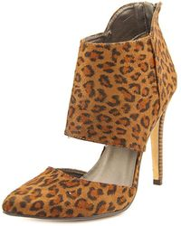 Michael Antonio - Lamonte Women Pointed Toe Synthetic Brown Bootie - Lyst