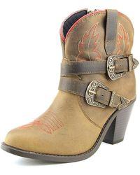 Dingo - Bridget Women Round Toe Leather Brown Western Boot - Lyst