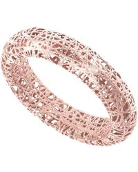 Jewelry Affairs - 14k Rose Gold Mesh Textured Band Ring, Size 7 - Lyst