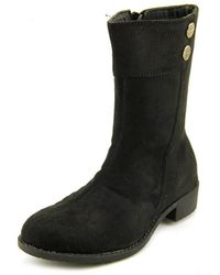 Propet - Scotia Women Round Toe Canvas Black Mid Calf Boot - Lyst