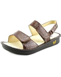 Alegria - Verona Women Open-toe Leather Brown Slingback Sandal - Lyst