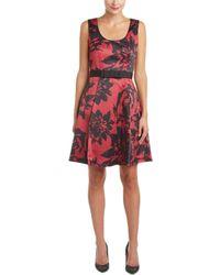 Debbie Shuchat - Pleated A-line Dress - Lyst
