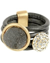 Saachi - Leather Resin Strand Ring - Lyst