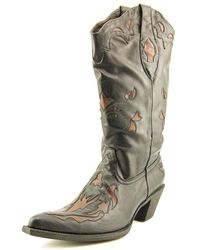 Roper - Rock Star Women Round Toe Leather Western Boot - Lyst
