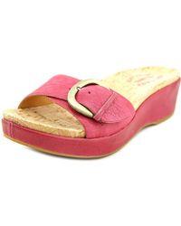 Kork-Ease - Kork-ease Minka Women Open Toe Leather Slides Sandal - Lyst