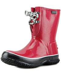 Bogs - Urban Farmer Boot Women Round Toe Synthetic Red Rain Boot - Lyst