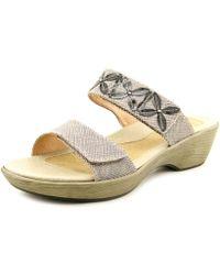 Naot - Port Open Toe Leather Slides Sandal - Lyst