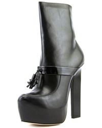 Ruthie Davis - Audrina Pointed Toe Leather Ankle Boot - Lyst