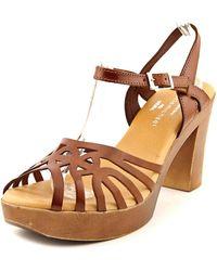 Eric Michael - Rosie Open Toe Leather Platform Sandal - Lyst