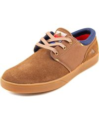 Emerica - The Figueroa Women Round Toe Canvas Brown Skate Shoe - Lyst