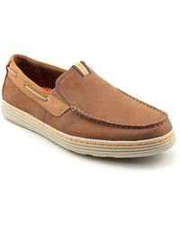 Dunham - Chace Men 4e Moc Toe Leather Brown Boat Shoe - Lyst