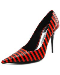 Gianmarco Lorenzi - Mix Ar Pointed Toe Patent Leather Heels - Lyst