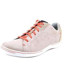 Ahnu - Noe Leather Round Toe Leather Trainers - Lyst