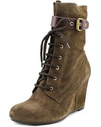 Andre Assous - Fergie Women Round Toe Suede Mid Calf Boot - Lyst