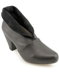All Black - Shawl Women Round Toe Leather Bootie - Lyst