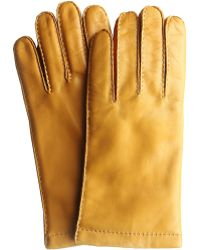 Hickey Freeman - Hand Sewn Cashmere Lined Italian Leather Glove With Suede Forchettes - Lyst