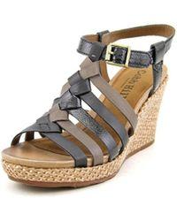 Cobb Hill - Cobb Hill Michelle Women Open Toe Leather Wedge Sandal - Lyst