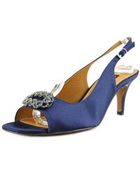 Kay Unger - Arrale Open Toe Canvas Sandals - Lyst