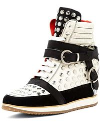 "Modern Vice - """"lauri"""" Leather Wedge Sneaker - Lyst"