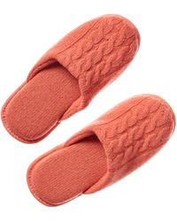 Portolano - Cashmere 3 Cable Row Slippers - Lyst