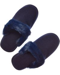 Portolano - Cashmere & Rabbit Slippers - Lyst