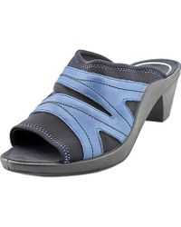 Romika - Mokassetta 276 Women Open Toe Leather Blue Slides Sandal - Lyst