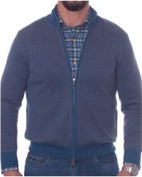 Robert Talbott - Merino Birdseye Jacquard Zip Jumper Jacket - Lyst