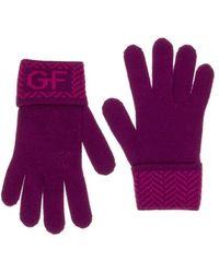 Gianfranco Ferré - Gua 01040/1 Purple Wool Blend Knitted Gloves - Lyst