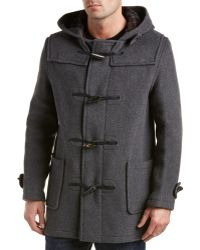 Gloverall Classic Duffle Coat in Gray for Men | Lyst