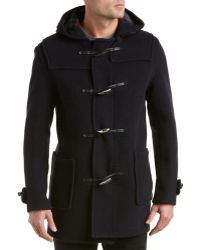 Gloverall Navy Duffle Coat in Blue for Men | Lyst