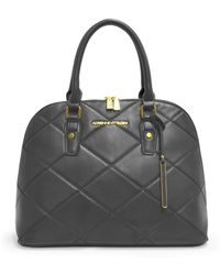Adrienne Vittadini - The Diamond Stitch Collection Dome Satchel - Lyst