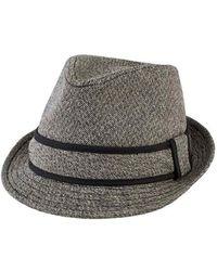 4b7d273e99e San Diego Hat Company - Men s Tweed Fedora With Contrast Trim Sdh9443 - Lyst