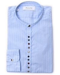 Aglini - Men's Light Blue Cotton Shirt - Lyst