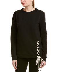 Lea & Viola - Lace-up Detail Sweatshirt - Lyst