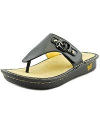 Alegria - Vanessa Women Open Toe Leather Flip Flop Sandal - Lyst