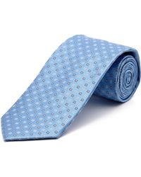 English Laundry - Blue Neat Silk Tie - Lyst