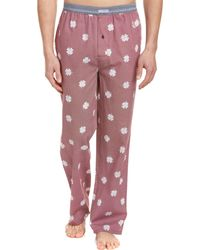 Lucky Brand - Core Printed Woven Lounge Pant - Lyst