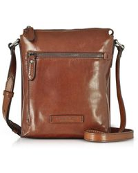 The Bridge - Men's Brown Leather Messenger Bag - Lyst