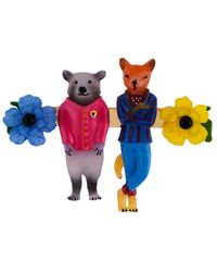 Les Nereides - The Smith Family Raccoon And Fox Brooch - Lyst