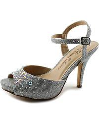 De Blossom Collection - Robin-90a Women Peep-toe Synthetic Heels - Lyst